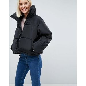 Brave soul ramblin oversize padded jacket - black