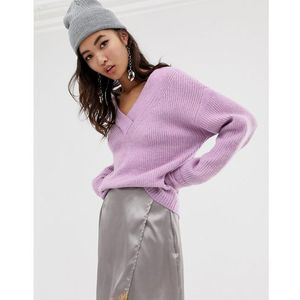 v neck jumper in lilac - purple, River island, 34-40