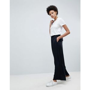 wide leg trousers - black marki Selected