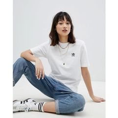 adidas Originals Embroidered Shirt In White - White