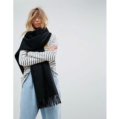 long oversized lambswool scarf - black marki Asos