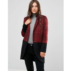 Religion Property Coat In Check Mix - Red