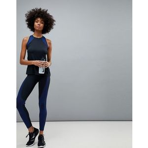 Nike Trainng Hypercool Legging In Black And Blue - Black