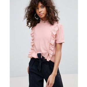 Minimum Ruffle Panel Top - Pink, kolor różowy