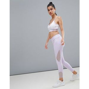 Kisaiya Mesh Panel Leggings - Purple, 1 rozmiar