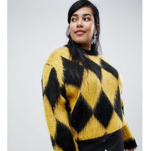 ASOS DESIGN Curve jumper in diamond pattern - Multi