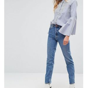 recycled florence authentic straight leg jeans in mindy vintage blue wash - blue marki Asos tall