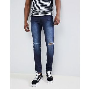 Loyalty and faith siret super skinny jeans with ripped knees in dark wash - blue, Loyalty & faith