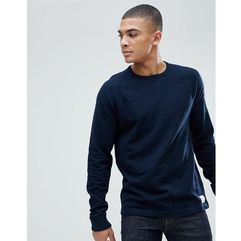 Abercrombie & Fitch Long Sleeve Baseball Top in Navy - Navy, 1 rozmiar