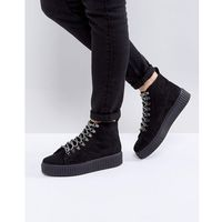 Asos design Asos abstract hiker ankle boots - black