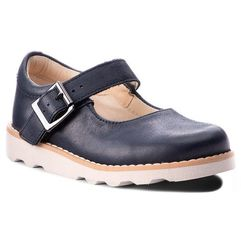Clarks Półbuty - crown honor 261358676 navy leather