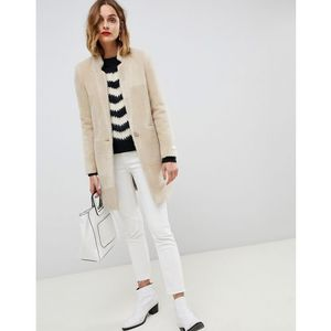 Gianni Feraud slimline coat - Cream, kolor beżowy