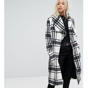 wrap front coat in soft brushed check - multi, Religion