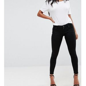 ASOS PETITE Whitby Low Rise Skinny Jeans In Clean Black - Black, skinny