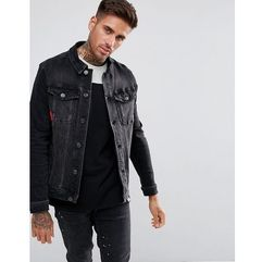 11 Degrees Muscle Denim Jacket In Black - Black, w 5 rozmiarach