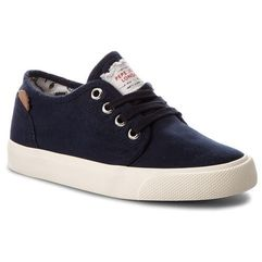 Tenisówki - traveler washed pbs30354 washed navy 576 marki Pepe jeans