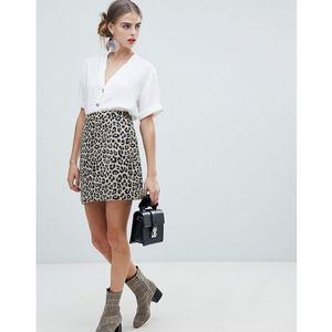 skirt in leopard - brown, New look