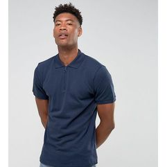 Another Influence TALL Zip Polo Shirts - Navy, 1 rozmiar