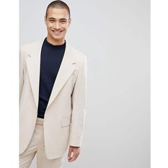 oversized suit jacket in stone - stone marki Asos design