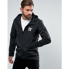 11 Degrees Overhead Windbreaker Jacket In Black - Black