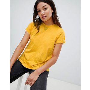 tee with mesh side panel insert - yellow marki Blfd