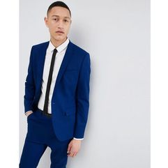 skinny suit jacket in royal blue - blue, Asos design