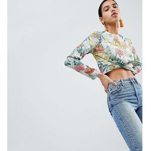 Boohoo twist front floral top - multi