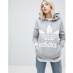 adidas Originals adicolor Trefoil Hoodie In Grey - Grey, kolor szary