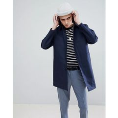 ASOS DESIGN shower resistant single breasted trench in navy - Navy