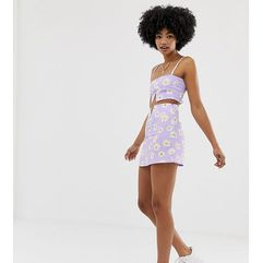 mini skirt with cut out co-ord - purple, Another reason