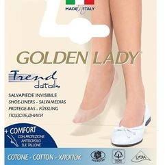 Baletki 6p cotton 35-38, beżowy/natural. golden lady, 35-38, 39-42 marki Golden lady