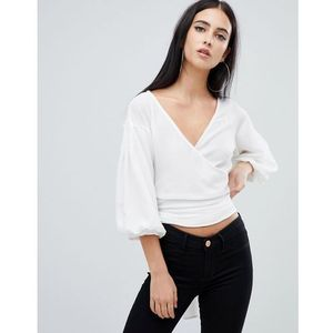 AX Paris wrap front shirt - Cream