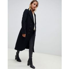 AllSaints Blair double breasted coat - Black, kolor czarny