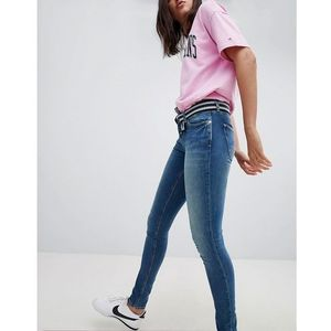 nora mid rise skinny jeans - blue marki Tommy jeans