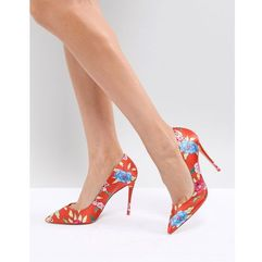 heeled court shoe in red floral print - orange marki Aldo