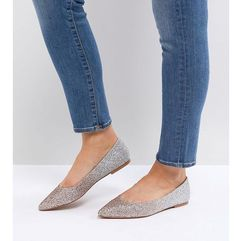 latch wide fit pointed ballet flats - multi, Asos