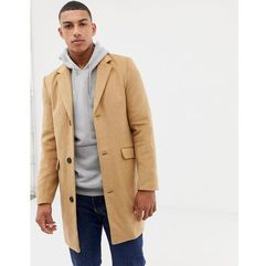 Another influence wool blend overcoat - tan