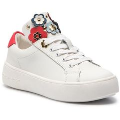 Sneakersy MICHAEL MICHAEL KORS - Zia-Maven Mindy White/Navy/Red, kolor biały