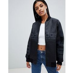 adidas Originals Aa-42 Faux Leather Track Jacket In Black - Black, skóra