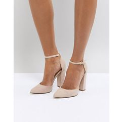 nicholes beige ankle strap high heeled pointed shoe - beige, Aldo