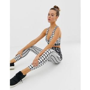 gym cropped leggings in mono print - multi, Missguided