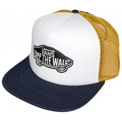 Vans czapka z daszkiem classic patch trucker dress blues-golden glow