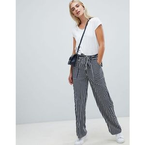 Pieces stripe wide leg trouser - multi
