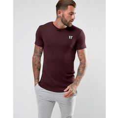 11 Degrees T-Shirt In Burgundy With Fleck - Red, w 2 rozmiarach