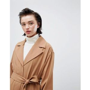 Weekday oversize belted trench coat in camel - beige
