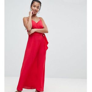 wrap maxi dress - red, Asos petite