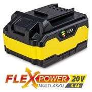Zapasowy akumulator Flexpower 20V 4,0 Ah (4052138017241)