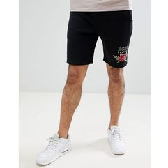 shorts with rose detail - black marki Aces couture