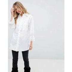 Anna sui vine lace trim shirt - white