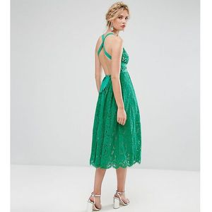 Asos tall salon lace pinny backless full midi prom dress - multi, Asos edition